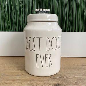 RAE DUNN Best Dog Ever Crown Canister Jar